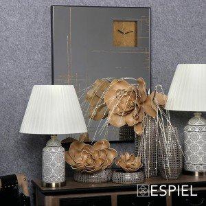 Καθρέπτης με ρολόι και σχέδια σε χρυσή απόχρωση 80x5x60 εκ