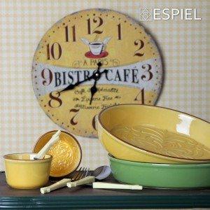 Πυρίμαχο στρογγυλό πορσελάνινο σκεύος σε κίτρινο χρώμα 29 εκ