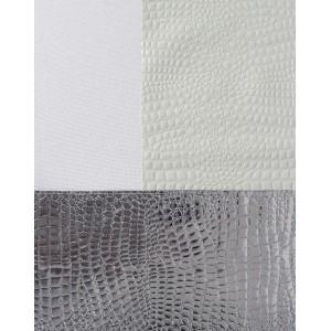 Runner τραπεζιού κροκό σε λευκό χρώμα 40x180 εκ