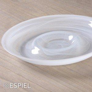 Atlas alabaster πιατέλα στρογγυλή σε λευκό χρώμα σετ των τεσσάρων τεμαχίων 38 εκ