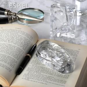 Πρες παπιέ από γυαλί με μορφή προσώπου 9x4x12 εκ