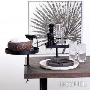 Πιπερόμυλος με κεραμικό μύλο σε μαύρο χρώμα σετ των τεσσάρων τεμαχίων 5x13 εκ