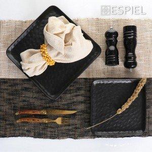 Πιπερόμυλος με κεραμικό μύλο σε μαύρο χρώμα σετ των τεσσάρων τεμαχίων 6x21 εκ