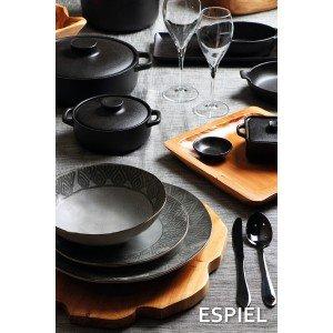 Lava κατσαρόλα ρηχή stoneware σε μαύρο χρώμα 30x24x8 εκ