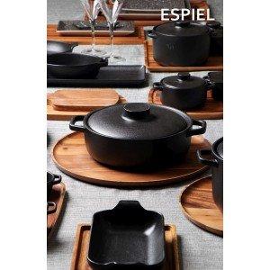 Μαύρο Lava κατσαρολάκι stoneware ορθογώνιο σετ των τεσσάρων τεμαχίων 16x9x5 εκ