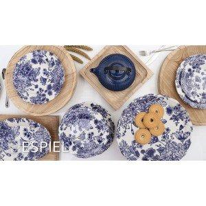 English blue πιατέλα δύο επιπέδων με μπλε σχέδια 27 εκ
