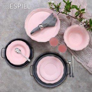 Tiffany κεραμική πιατέλα σε ροζ χρώμα με βάση 33x12 εκ