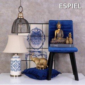 Vintage πίνακας με πλακάκια και σχέδιο πολυθρόνα σε μπλε χρώμα 63x4x84 εκ