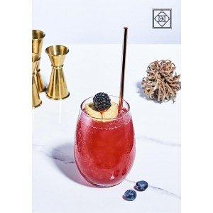 Amber red γυάλινο ποτήρι κόκκινου κρασιού σετ των τριών τεμαχίων 9x11 εκ