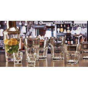Casablanca γυάλινο ποτήρι για παγωμένο καφέ σετ των δώδεκα τεμαχίων 8x12 εκ