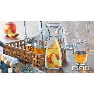 Belgium γυάλινη καράφα κρασιού σετ των έξι τεμαχίων 9x28 εκ