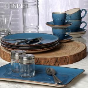 Terra Blue φλιτζανάκι και πιατάκι για espresso σετ των έξι τεμαχίων 90 ml