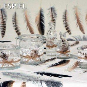 Γυάλινο φανάρι με φτερό σετ των τεσσάρων τεμαχίων 13 εκ