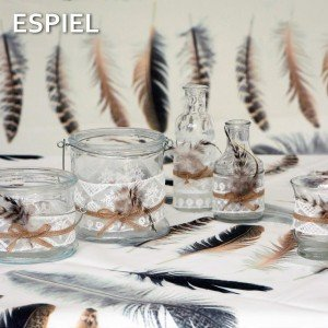 Γυάλινο φανάρι με φτερό σετ των τεσσάρων τεμαχίων 9 εκ