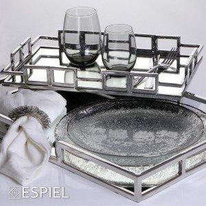 Δαχτυλίδι πετσέτας glam σε καφέ απόχρωση σετ των έξι τεμαχίων