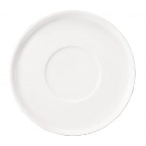 Good mood πορσελάνινο στρογγυλό πιατάκι του καφέ λευκό σετ των έξι τεμαχίων 13 εκ