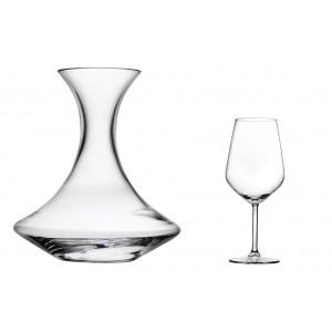 Σετ κρασιού τριών τεμαχίων με καράφα και δύο ποτήρια