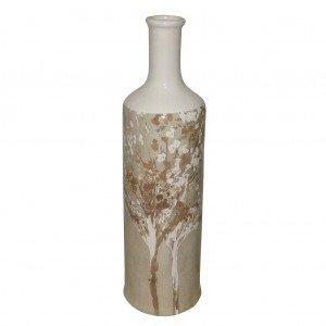 Autumn κεραμικό διακοσμητικό μπουκάλι σε μπεζ αποχρώσεις 36 εκ