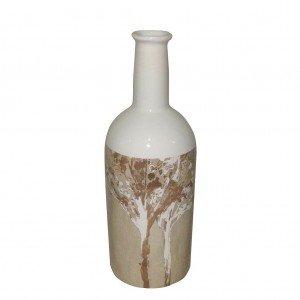 Autumn κεραμικό διακοσμητικό μπουκάλι σε μπεζ αποχρώσεις 29 εκ