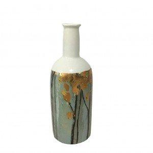 Golden breeze κεραμικό διακοσμητικό μπουκάλι σε γαλάζια απόχρωση 29 εκ