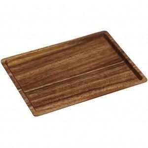 Δίσκος ορθογώνιος από ξύλο ακακίας 33x43x2 εκ