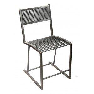 Industrial καρέκλα μεταλλική σε ανθρακί χρώμα 58x40x80 εκ