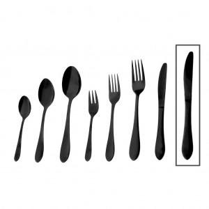 Prime μαχαίρι φαγητού σε μαύρο χρώμα σετ των δώδεκα τεμαχίων 23 εκ