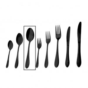 Prime κουτάλι φαγητού σε μαύρο χρώμα σετ των δώδεκα τεμαχίων 20 εκ