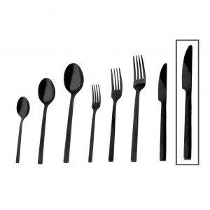 Divine μαχαίρι φαγητού σε μαύρο χρώμα σετ των δώδεκα τεμαχίων 24 εκ