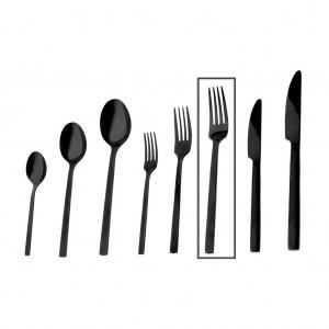 Divine πιρούνι φαγητού σε μαύρο χρώμα σετ των δώδεκα τεμαχίων 21 εκ