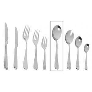 Ανοξείδωτο κουτάλι φαγητού Benefit σετ των δώδεκα τεμαχίων 21 εκ