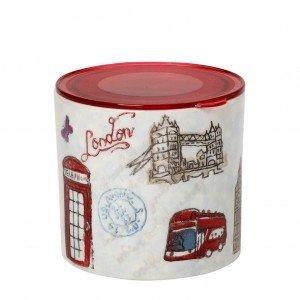 Βάζο κουζίνας London με καπάκι σετ των έξι τεμαχίων 12 εκ