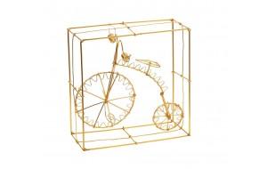 Διακοσμητικό χειροποίητο συρμάτινο ποδήλατο σε χρυσή απόχρωση 21 εκ