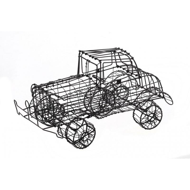 Διακοσμητικό αυτοκίνητο χειροποίητο συρμάτινο σε μαύρο χρώμα 29 εκ