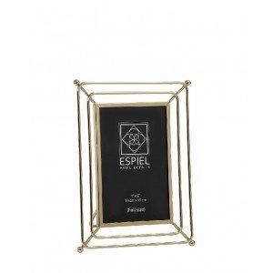 Minimal κορνίζα με μεταλλικό πλαίσιο σε χρυσό χρώμα για φωτογραφία 10x15 εκ