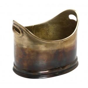 Σαμπανιέρα αλουμινίου rustic σε μπρονζέ απόχρωση 29x22x24 εκ