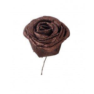 Διακοσμητικά τριαντάφυλλα μπρονζέ σετ των εικοσιτεσσάρων τεμαχίων 5 εκ