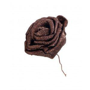 Διακοσμητικά τριαντάφυλλα μπρονζέ σετ των δώδεκα τεμαχίων 7 εκ