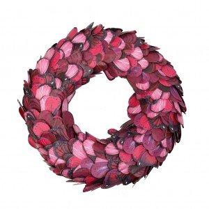 Διακοσμητικό χάρτινο στεφάνι σε ροζ χρώμα 40 εκ