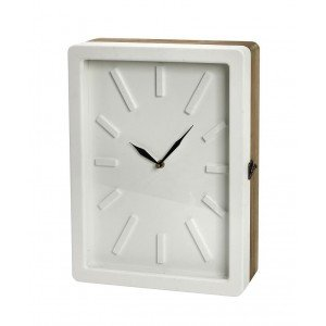 Minimal ρολόι κλειδοθήκη σε λευκό χρώμα 30x9x40 εκ