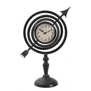 Επιτραπέζιο ρολόι βέλος μεταλλικό σε μαύρο χρώμα 35x16x48 εκ