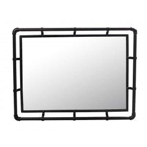 Industrial μεταλλικός καθρέπτης σε μαύρο χρώμα 38x51x5 εκ