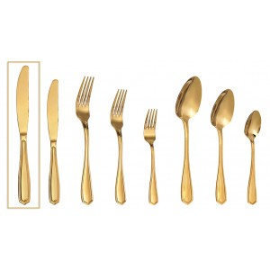 Empire μαχαίρι φαγητού σε χρυσό χρώμα σετ των δώδεκα τεμαχίων 23 εκ
