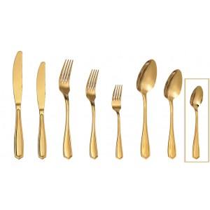 Empire κουταλάκι γλυκού σε χρυσό χρώμα σετ των δώδεκα τεμαχίων 15 εκ