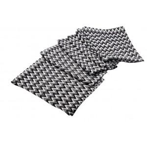 Ασπρόμαυρο τραπεζομάντηλο τετράγωνο 120x120 εκ