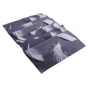 Runner σε γκρι χρώμα με σχέδιο φτερών 40x180 εκ
