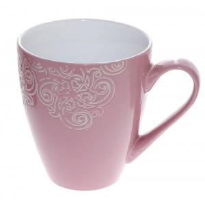 Vintage κούπα Vienna σε ροζ χρώμα σετ των έξι τεμαχίων 10x11 εκ