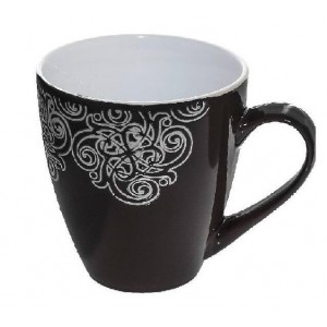 Vintage κούπα Vienna σε μαύρο χρώμα σετ των έξι τεμαχίων 10x11 εκ