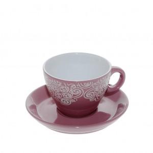 Vienna vintage φλυτζάνι καπουτσίνο σε ροζ χρώμα σετ των έξι τεμαχίων 9x7 εκ