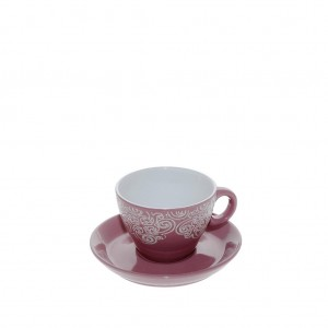 Vintage φλυτζάνι εσπρέσο Vienna σε ροζ χρώμα σετ των έξι τεμαχίων 7x5 εκ